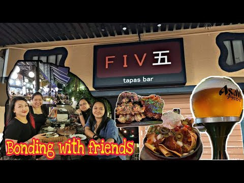 Five Tapas bar Singapore with my friend