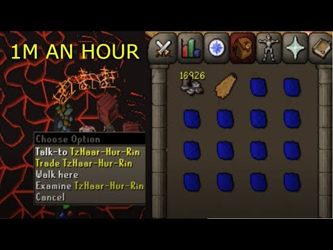 OSRS - 1M an hour! New Tzhaar City Money Making Guide
