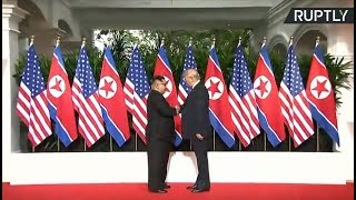 First handshake: Kim & Trump face off at Singapore summit