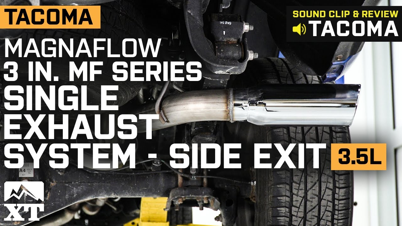 Tacoma Magnaflow 3 in  MF Series Single Exhaust System - Side Exit  (2016-2019 3 5L) Review & install