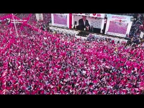 Erdogan's Main Rival Holds Mass Rally In Ankara