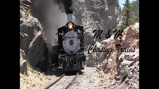 #315 on the Cumbres and Toltec Special Frieght 2018 part1