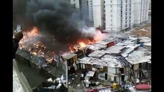 Incêndio em  favela na Penha SP.