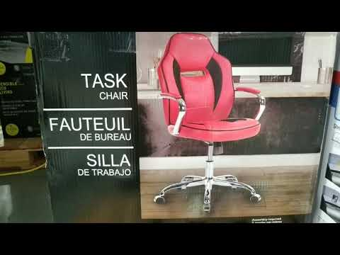 Costco! Leather Chrome Task Chair! $59!!!
