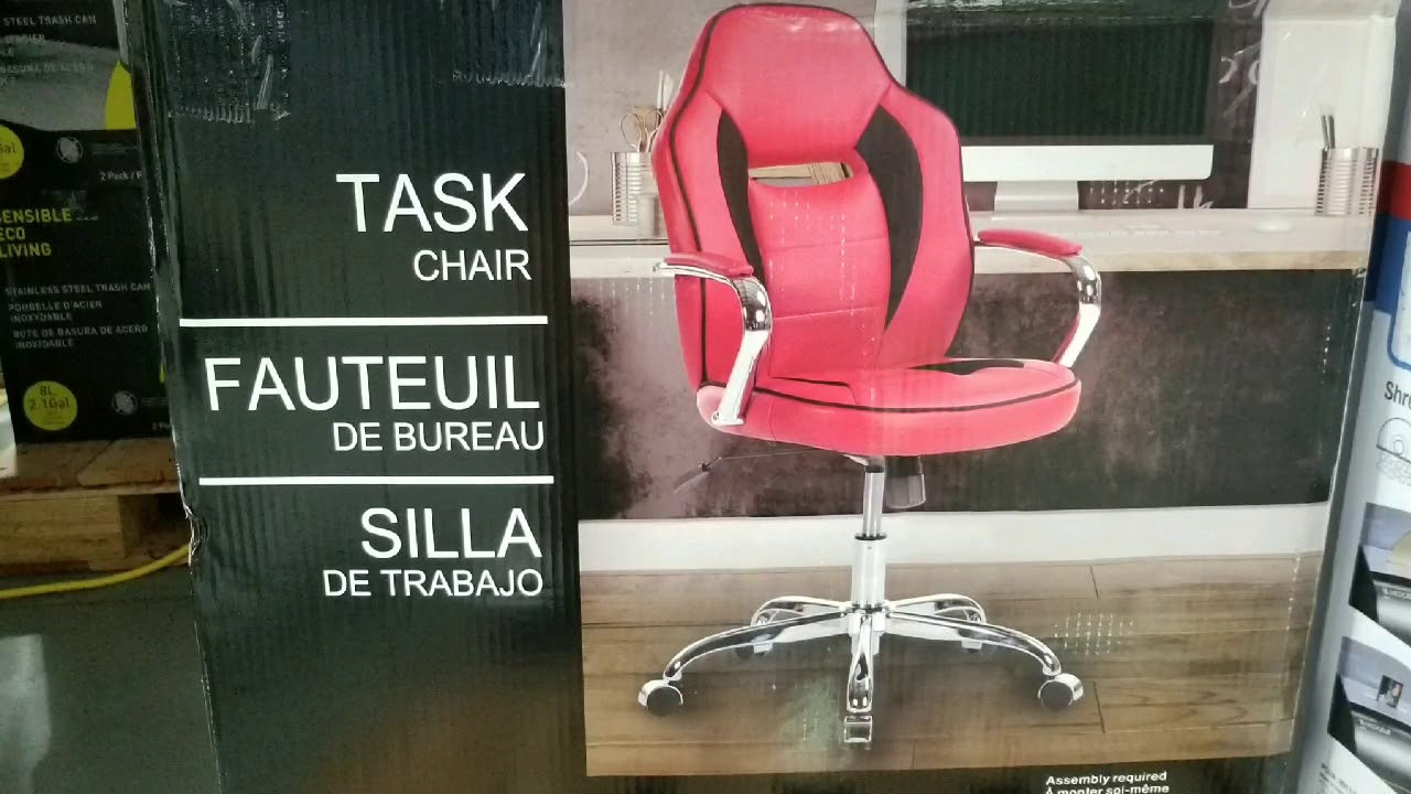 Costco Gaming Chair Baby Swing Nz Leather Chrome Task 59 Youtube