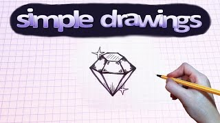 Simple drawings #38 How to draw brilliant