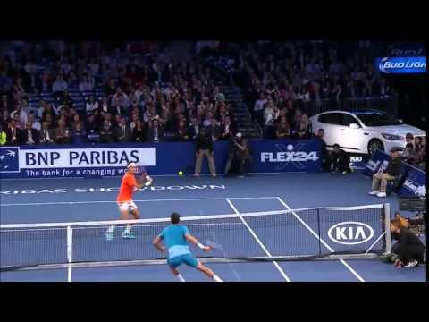 Roger Federer vs Grigor Dimitrov BNP Paribas Showdown NYC Exhibition