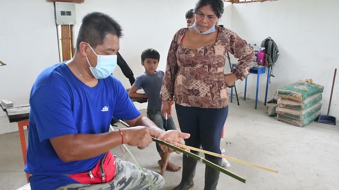 Se inauguró el Taller  elaboración de Tejidos  en  Bambú junto con la nacionalidad Waorani en Napo