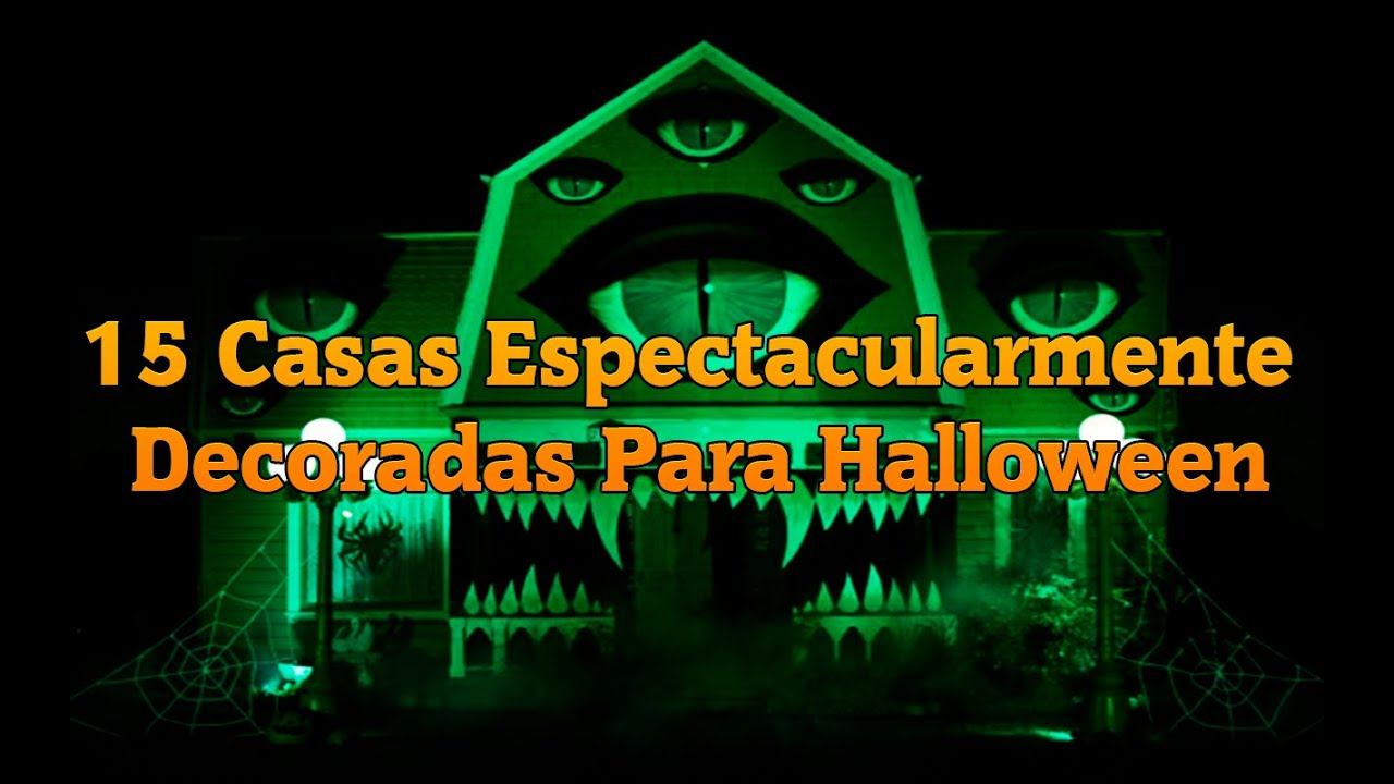 Las 15 casas decoradas para halloween mas espectaculares for Decoracion de halloween para casas