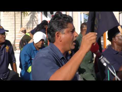 Oilfields Workers Trade Union Protest at Pointe a Pierre Refinery December 14,2017