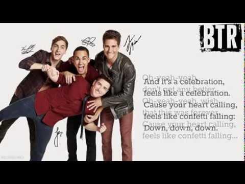 Big Time Rush-Confetti Falling [Lyrics]