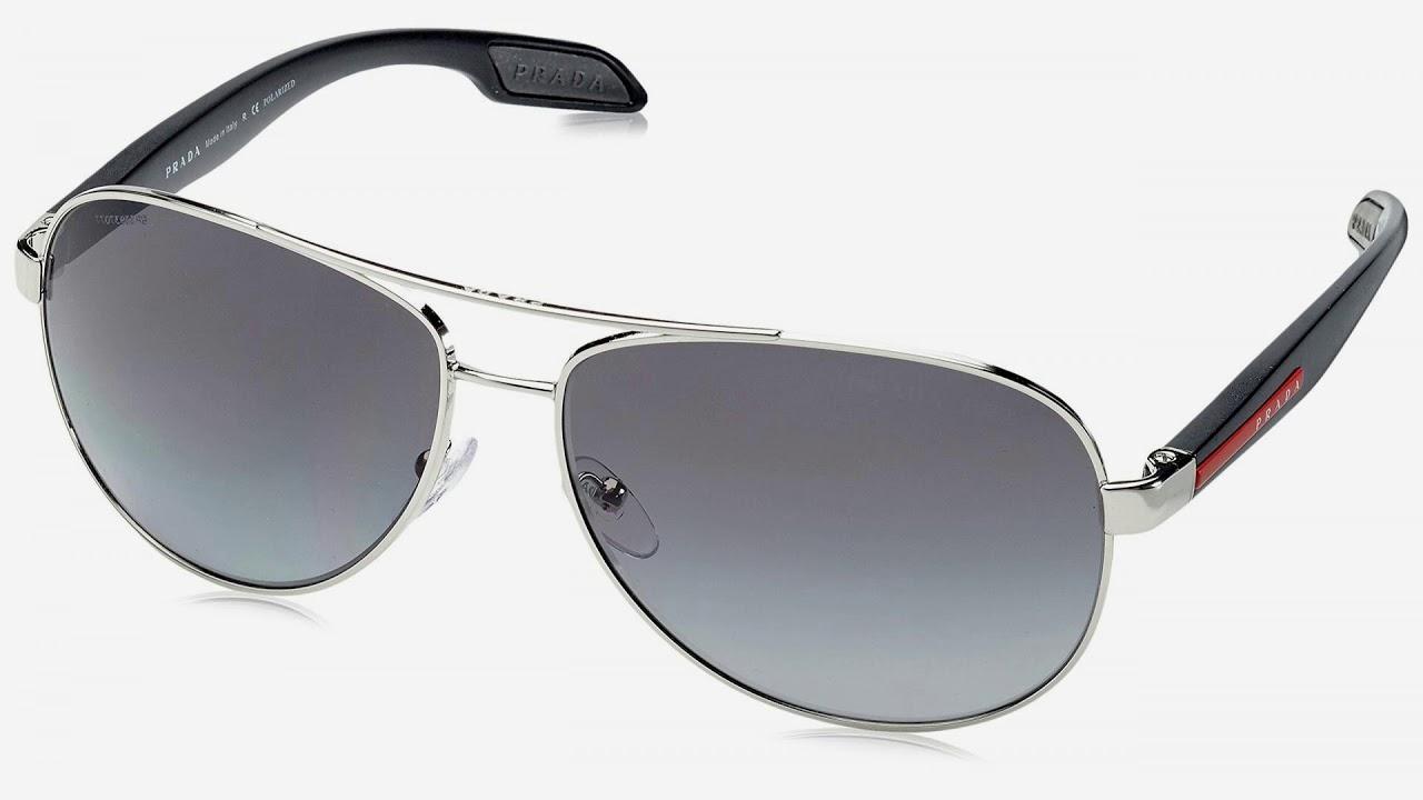4ff34116f27 Prada Sport Benbow Pilot Sunglasses Polarised Lens Cat PS53PS 1BC5W1 ...