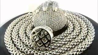 """Iced Out Hiphop Earth Pendant & 38"""" Snow Chain Combination(PEP203-02GR&CH011-0738GR) Thumbnail"""
