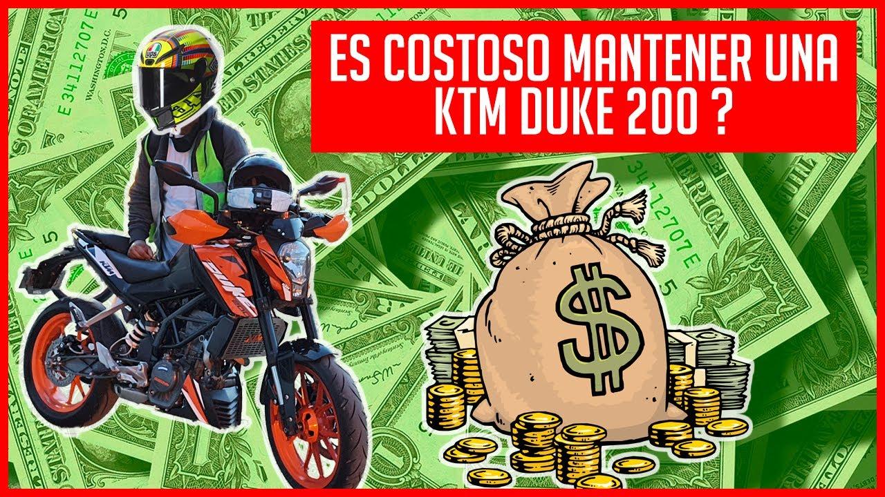 MANTENER UNA KTM DUKE 200 ES MUY COSTOSO O NO ?