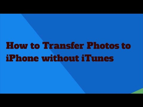how to put photos on iphone without itunes