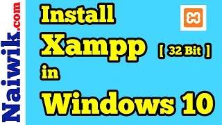 Gambar cover How to Install Xampp 32-bit in Windows 10 [ 2018 ]