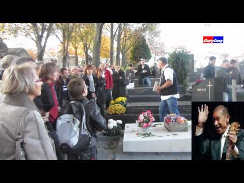 Henri Salvador  et Edith Piaf  a  Paris Le cimetière du Père-Lachaise 2011