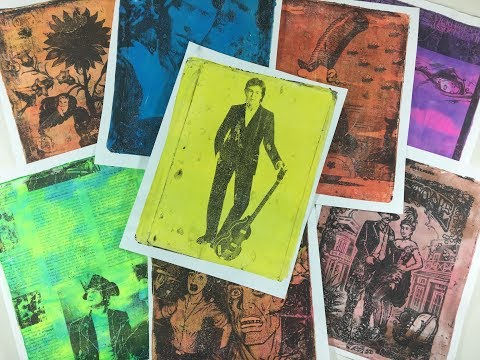 Pop Art Prints From Your Gel Plate