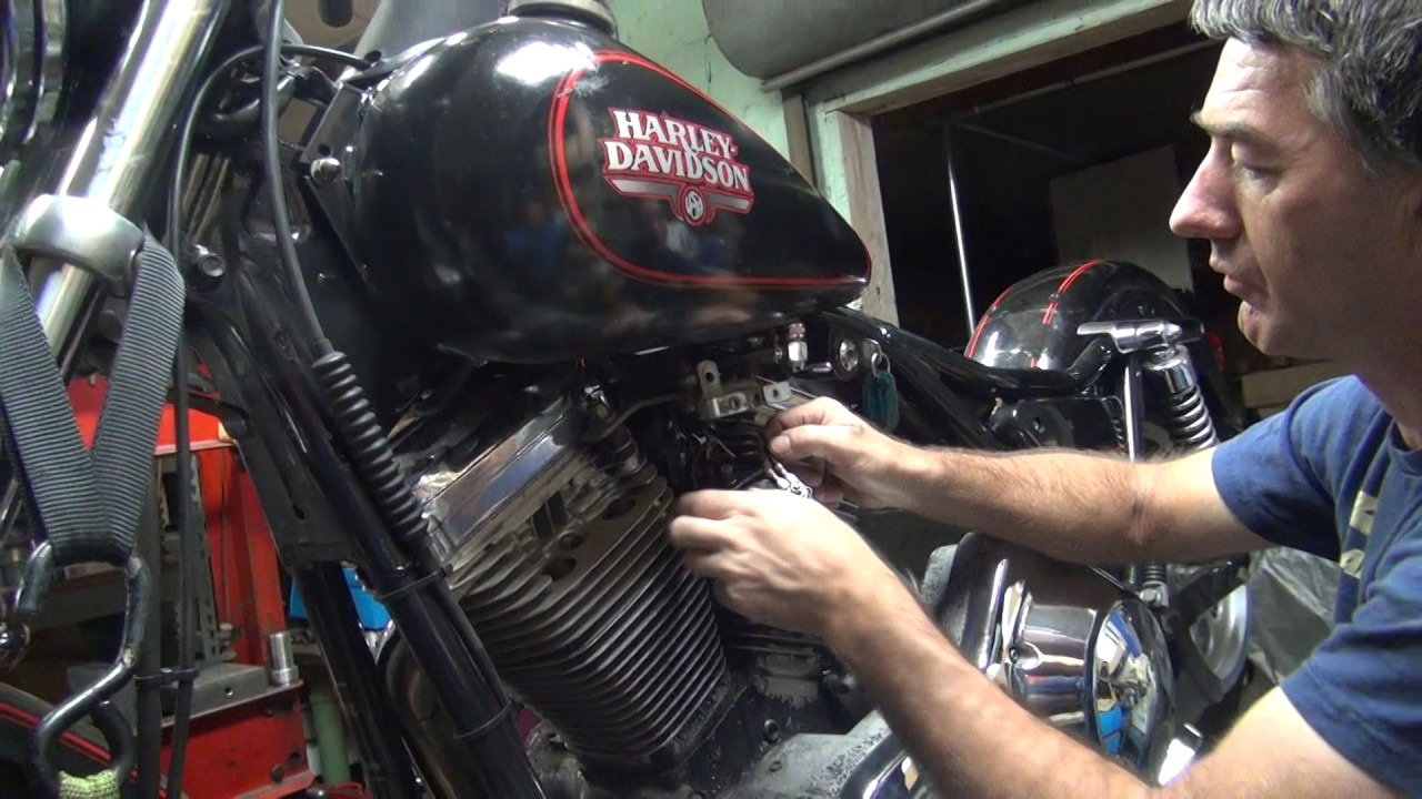 small resolution of 1989 fxr 101 ignition swap out repair harley dyna 2000i by tatro machine