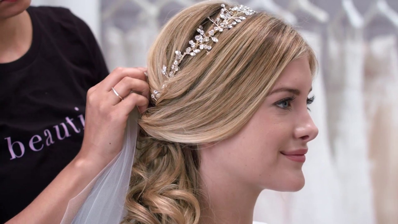 3 wedding hair ideas with matching