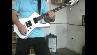 ibanez iceman ict700 white sustain from hell