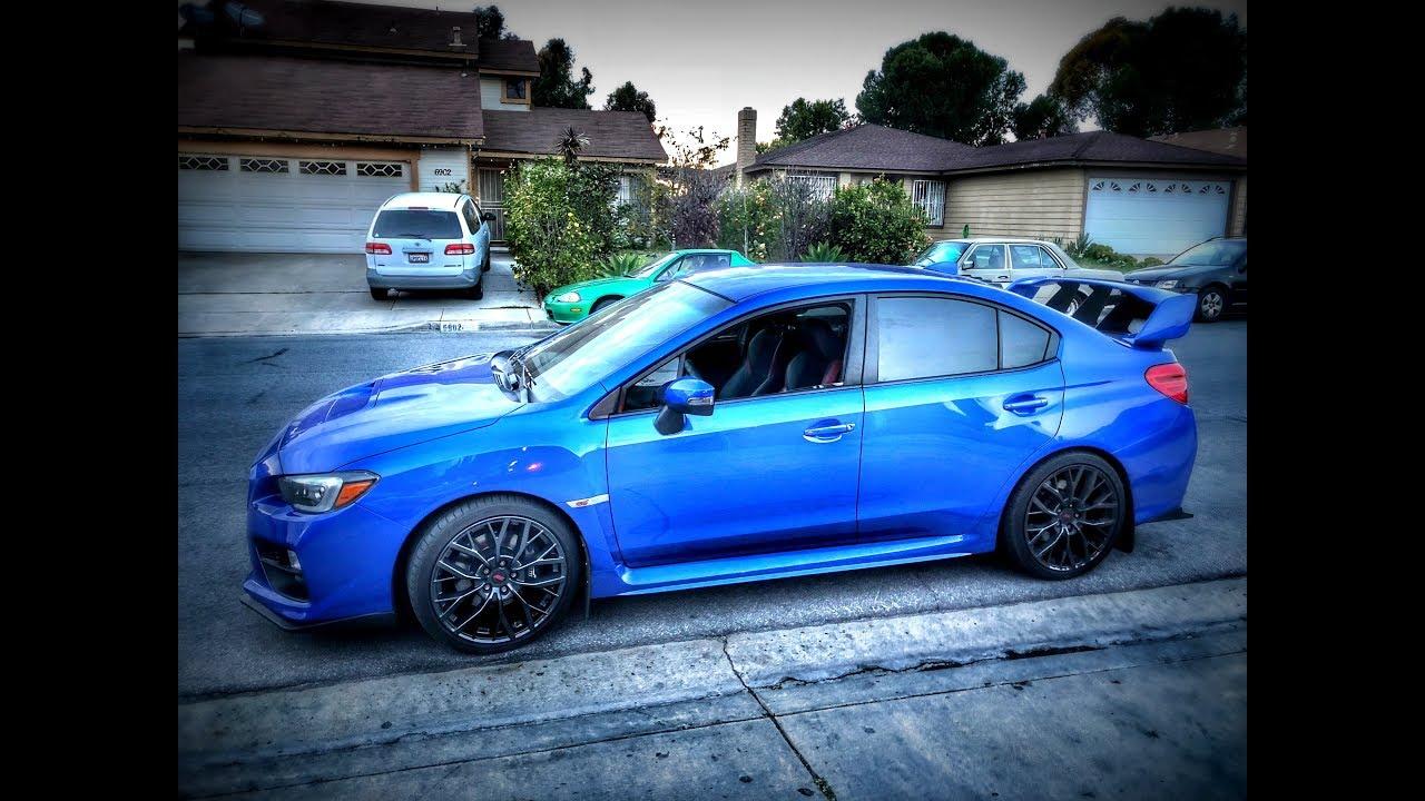 my subaru wrx sti on 19\u201d wheels!!! youtube