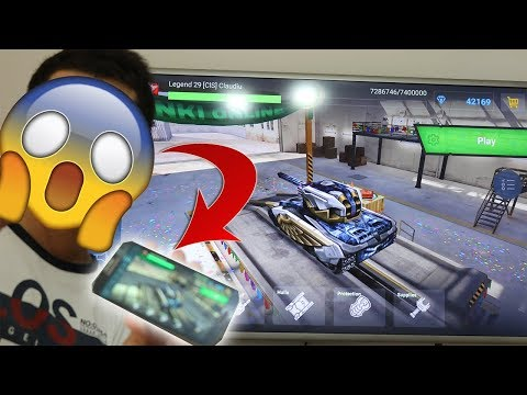 Tanki Online - MOBILE VERSION (Playing from TV)