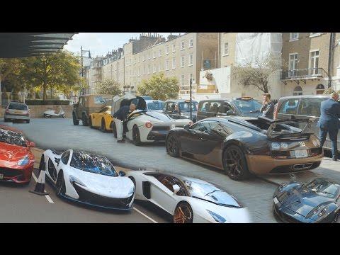 CRAZY LONDON CAR SPOTTING BUGATTI, 2 P1'S, PAGANI, LA FERRARI, 918 AND MORE! (4K)