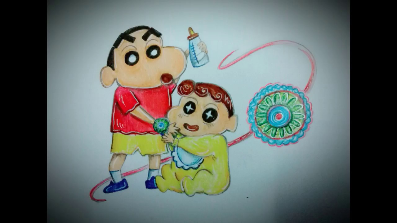 Raksha Bandhan Drawing With Colour Pencils Step By Step Easy Drawing Ele Creation 2018 Youtube
