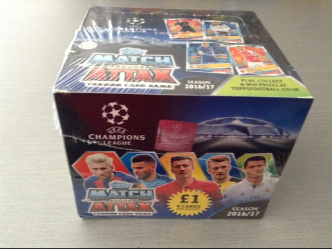 TOPPS MATCH ATTAX CHAMPIONS LEAGUE 16/17 ***FULL UK BOX OPENING***