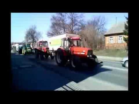 Strajk rolników 2014 Łosice. (10.03.14)