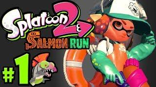 Splatoon 2 ~ Salmon Run PART 1 - Nintendo Switch Gameplay Walkthrough - Mr. Grizz's Boss Rush