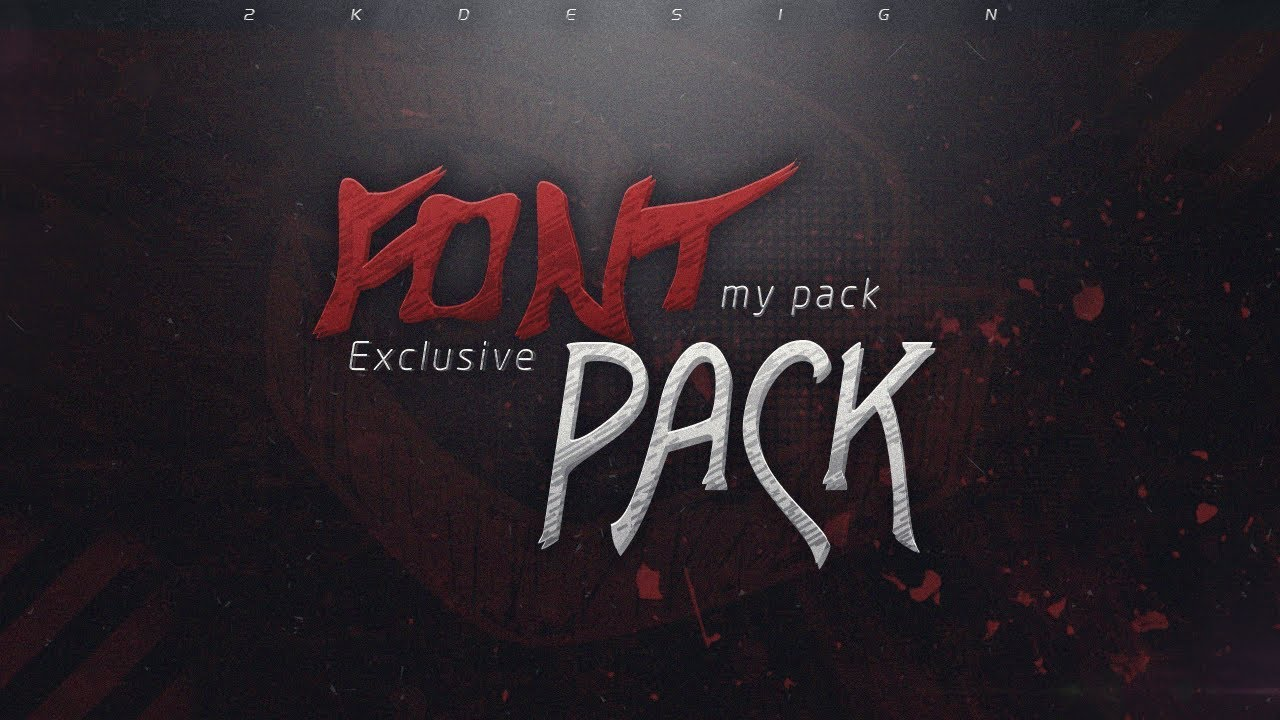 Download 2K   Exclusive Font Pack   Free Download - YouTube