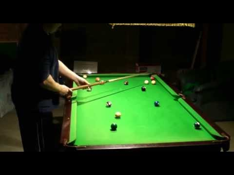 how to hit a pool ball on the rail