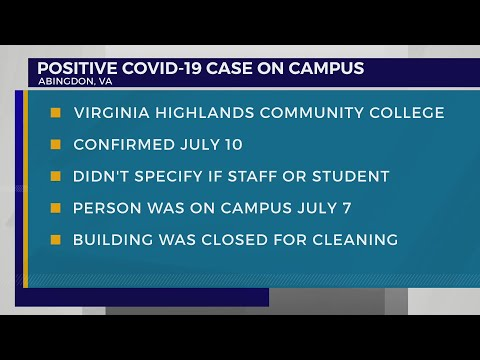 Virginia Highlands Community College reports first COVID-19 case on campus