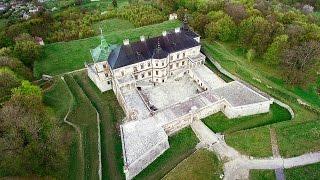 Drone Grand Tour - Pidhirtsi Castle Western Ukraine.