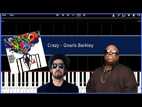 Crazy  Gnarls Barkley Synthesia Tutorial Instrumental  Download