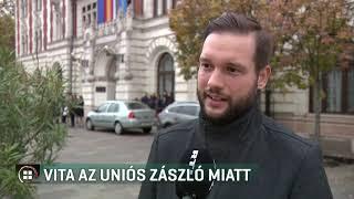 Vita az uniós zászló miatt Újpesten 19-11-09