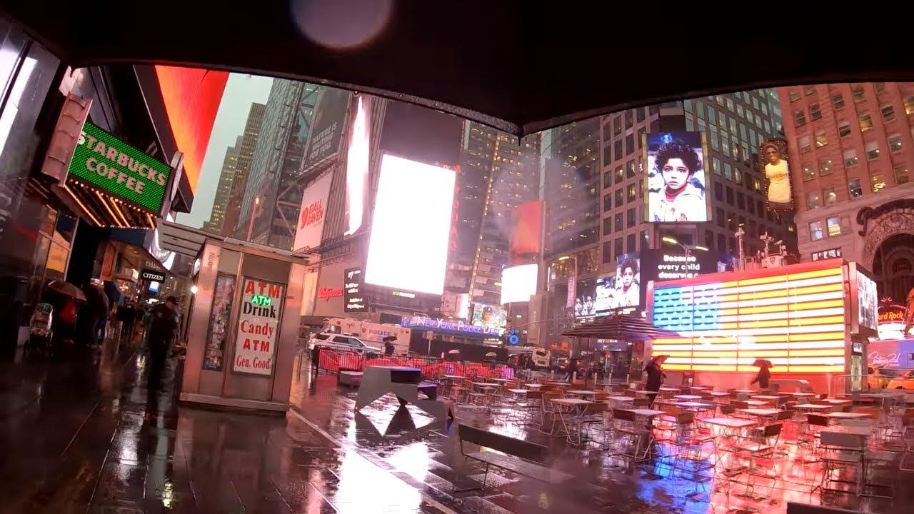 ⁴ᴷ⁶⁰ Walking Midtown Manhattan in the Rain (1st Avenue, Times Square, Broadway) - November 6, 2018