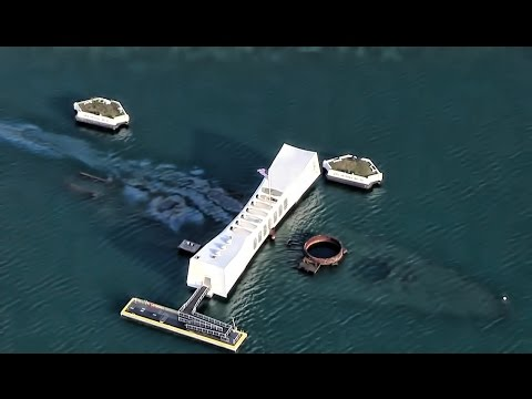 Aerial View Of Pearl Harbor & Arizona Memorial • RIMPAC 2016
