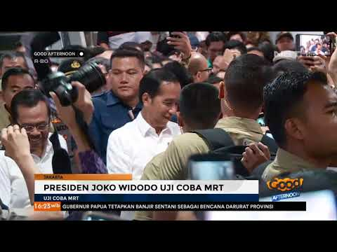Presiden Joko Widodo Uji Coba MRT