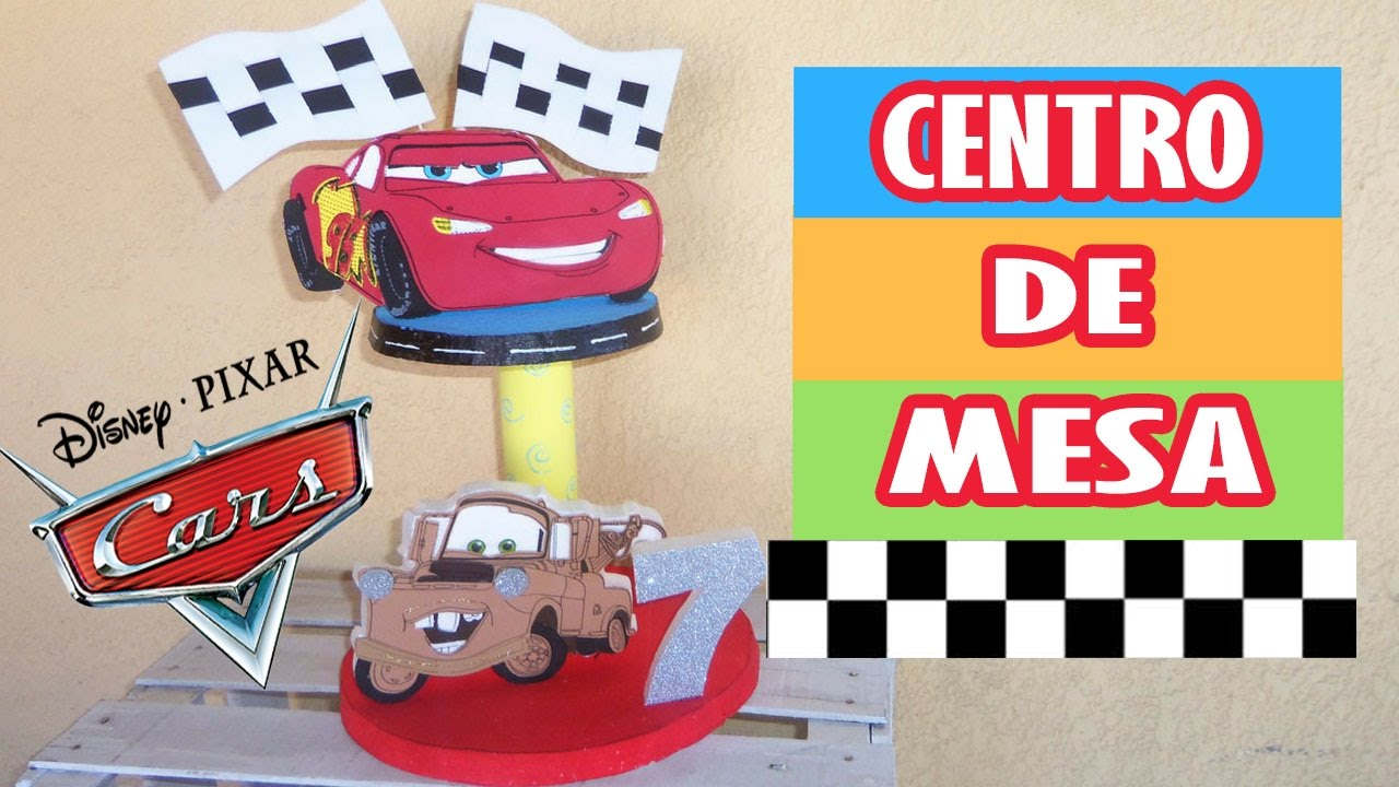 Centro de mesa paso a paso centro de mesa cars for Decoracion de globos para fiestas infantiles paso a paso