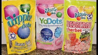 Dippin Dots Ice Cream: Banana Split, Cotton Candy & Sour Patch Kids Redberry Sherbet Review