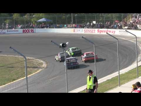 Sunset Speedway Mini Stock Heat 1 2016 09 03