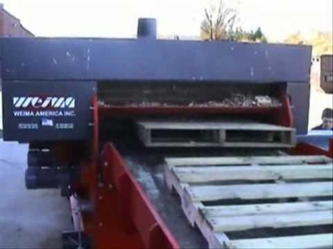 Weima Leopard 1300 Horizontal Pallet Amp Skid Waste Grinder