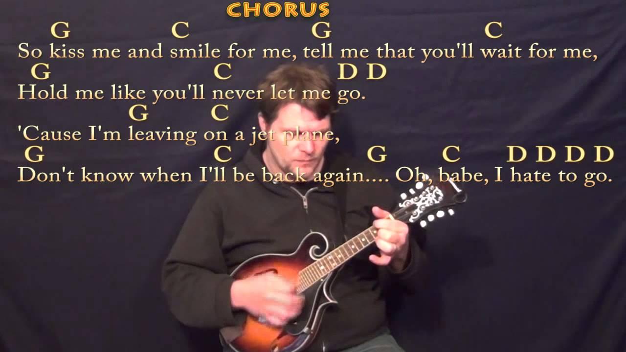 Leaving On A Jet Plane John Denver Mandolin Cover Lesson With