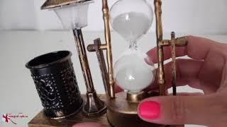 Песочные часы с подставкой для карандашей и подсветкой ( 1 минута 45 секунд )