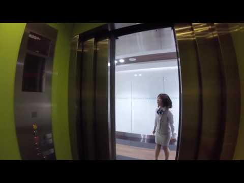 elevator up to Saigon Skydeck in Bitexco Financial Tower