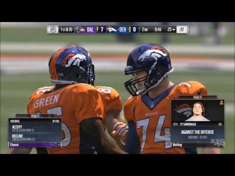 Madden NFL 17 - Baltimore Ravens vs Denver Broncos | Gameplay (HD) [1080p60FPS]