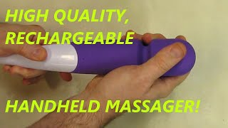 Handheld Massager USB Rechargeable for Essential Travel Home massager (Purple)